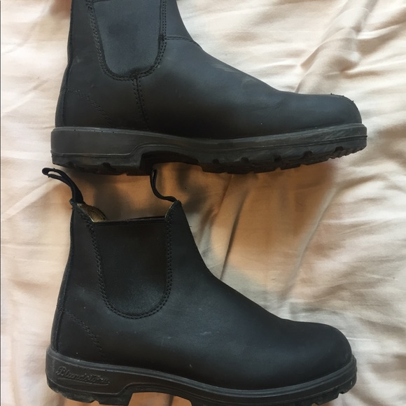 Blundstone Shoes | Black Winter Boots Chelsea Boots | Poshmark